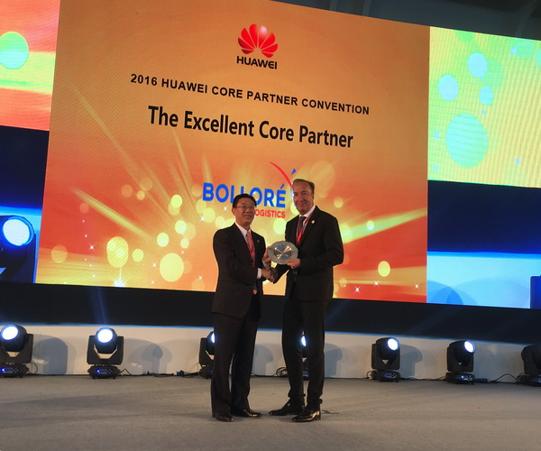 Huawei honors Bolloré Logistics with three partner awards