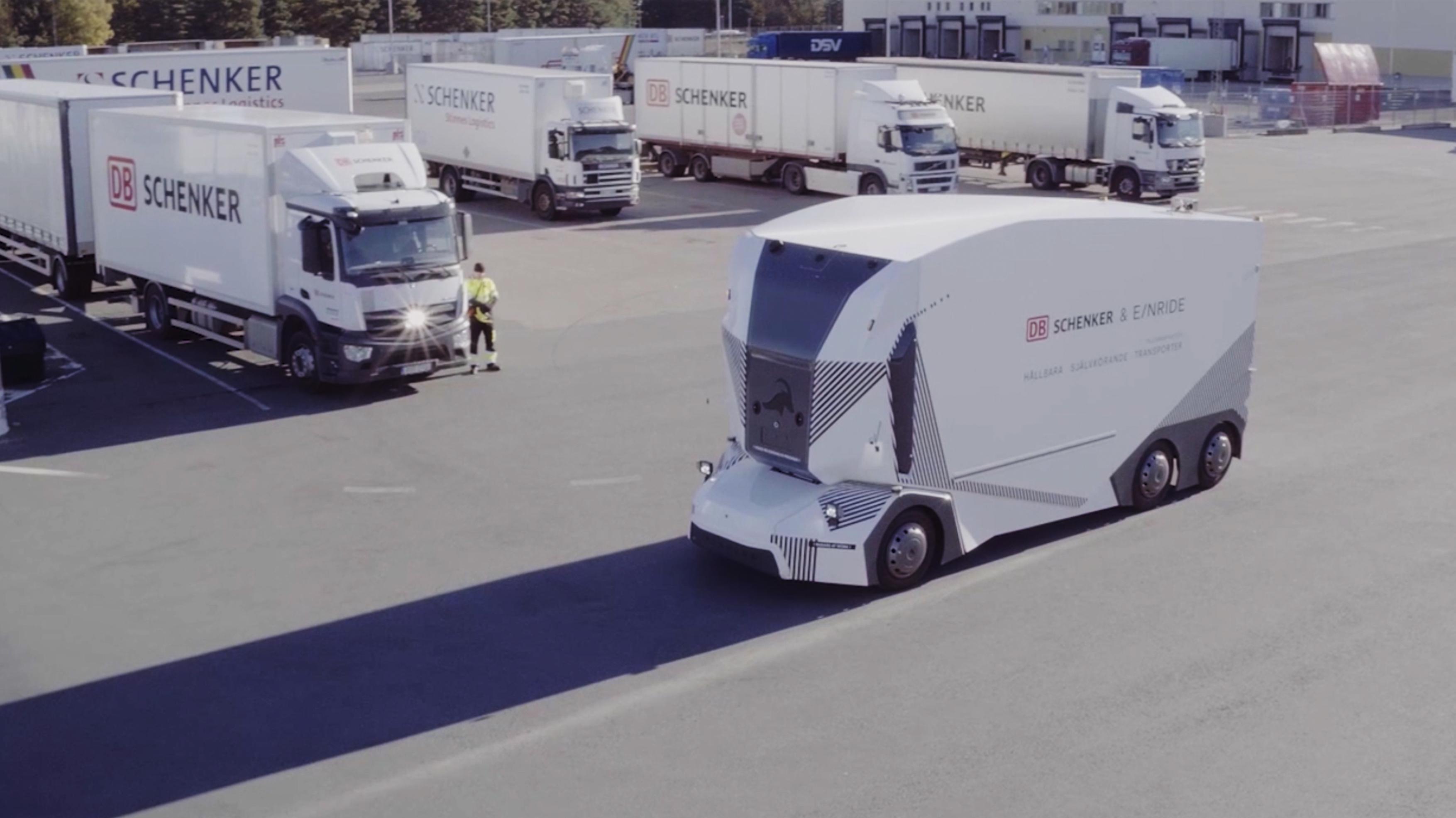 DB Schenker nimmt ersten autonomen Elektro-Lkw in Betrieb