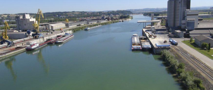 Ennshafen spürte 2018 die extreme Niederwassersituation