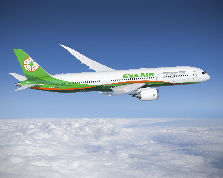 """""""Dreamliner"""" der Eva Air im Anflug nach Wien"""