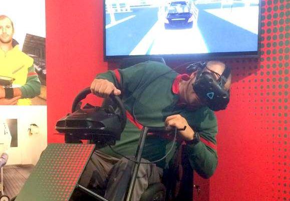 Start des Hödlmayr Virtual Reality Simulator in Schwertberg