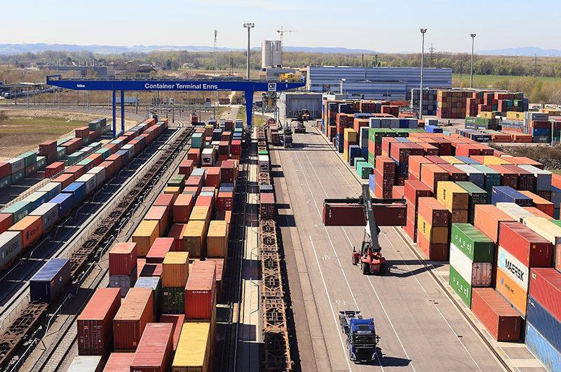 Container Terminal im Ennshafen wird um 9,8 Mio. Euro erweitert