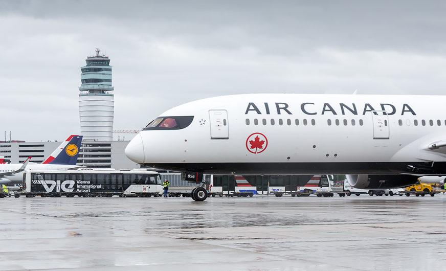 Air Canada fliegt wieder regelmäßig ab Wien