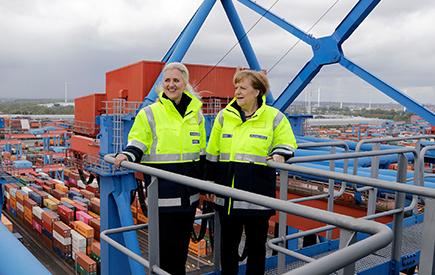 Angela Merkel bekräftigt Bedeutung eines barrierefreien Welthandels