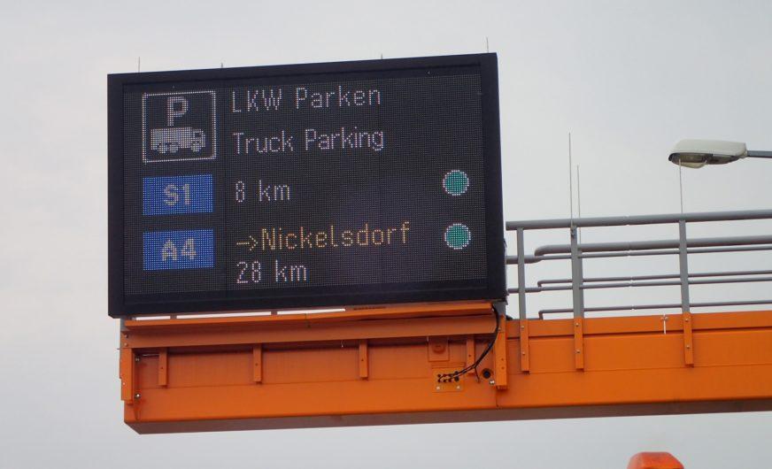 Asfinag verstärkt Stellplatzinformation für den Lkw-Schwerverkehr