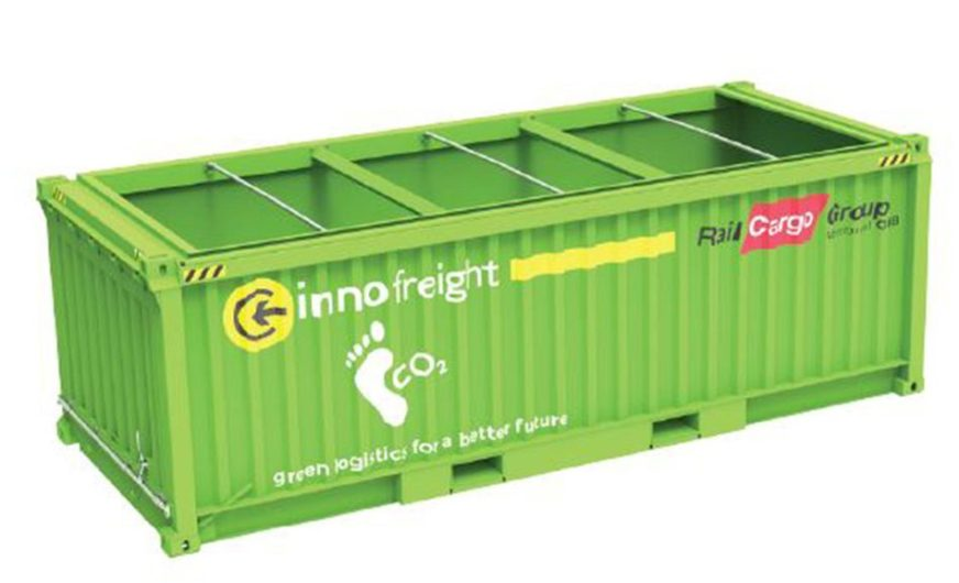 """Green City Logistics Container"" von Innofreight und Rail Cargo Group"