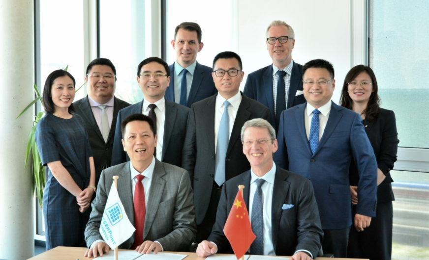 Im GVZ JadeWeserPort soll ein chinesisches Logistikzentrum entstehen