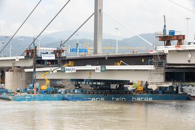 """Linz: """"Brückenschluss"""" für den ersten neuen A 7 Bypass über die Donau"""