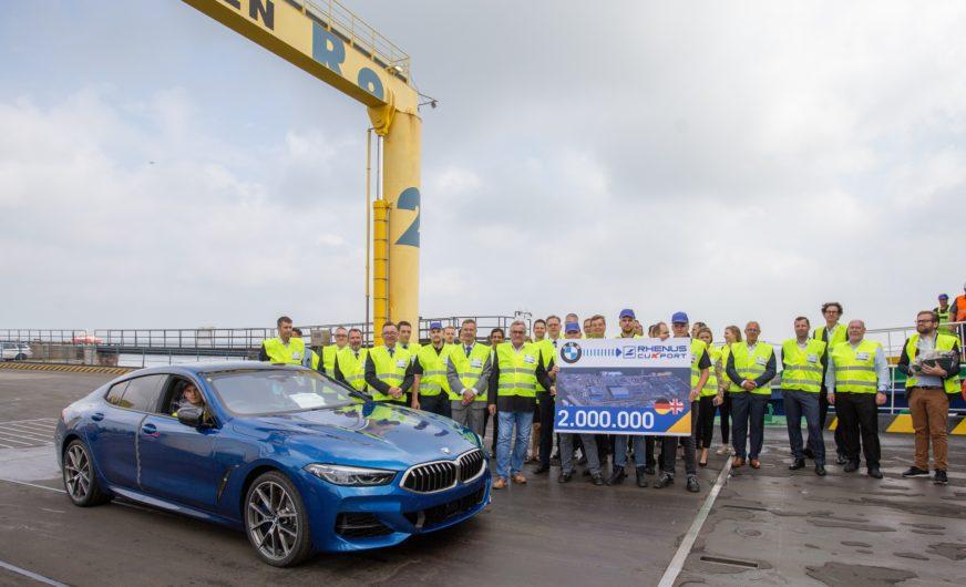 In Cuxhaven wurde der zweimillionste Neuwagen der BMW Group verladen
