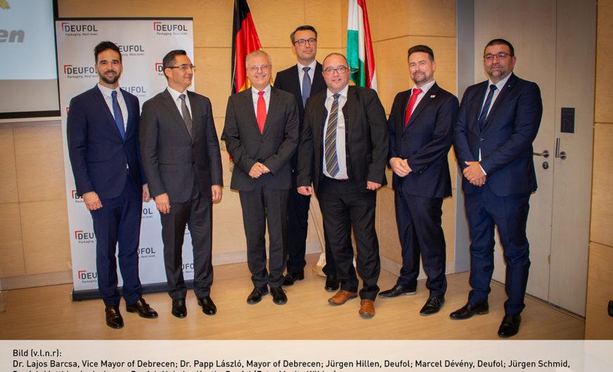 Großinvestition der Deufol-Gruppe in Ungarn
