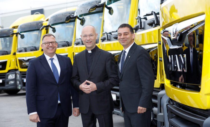 15 neue Öko-Lkw von MAN für die Österreichische Post