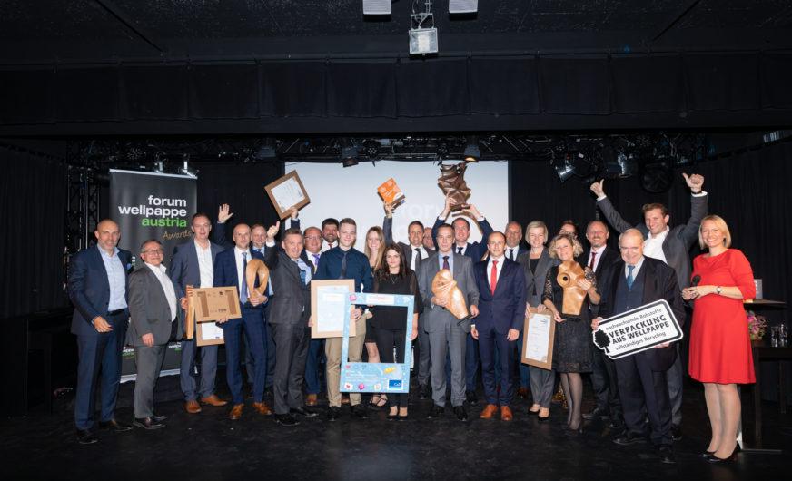 Wellpappe Austria Awards 2019 für Mondi Grünburg, Rondo Ganahl und Steierpack