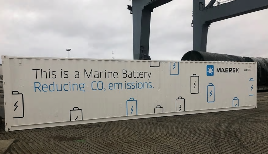 Maersk built marine battery system