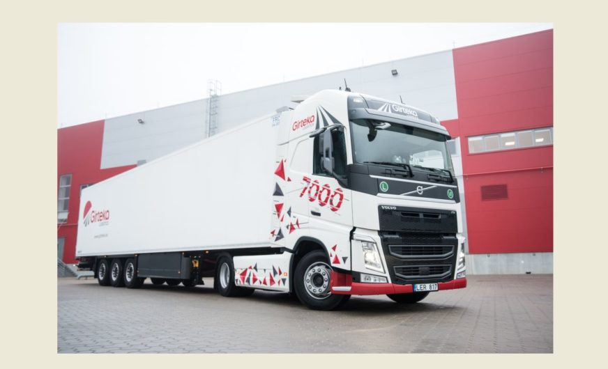 Girteka Logistics takes its truck number 7,000 in operation