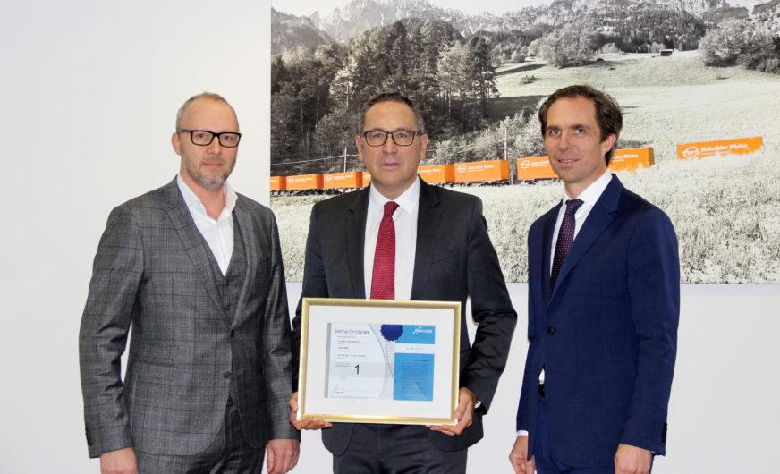 """Logistiker Gebrüder Weiss bleibt weiterhin eine """"Top Rating Company"""""""