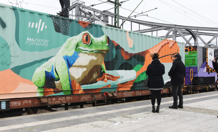 One year of Rail Freight Forward and Noah's Train campaign