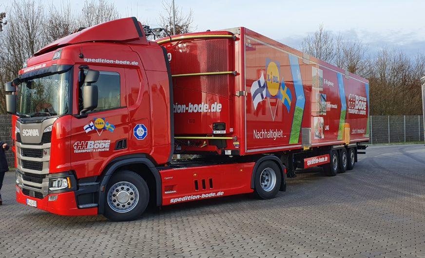 Scania Oberleitungs-Lkw an Spedition Bode ausgeliefert