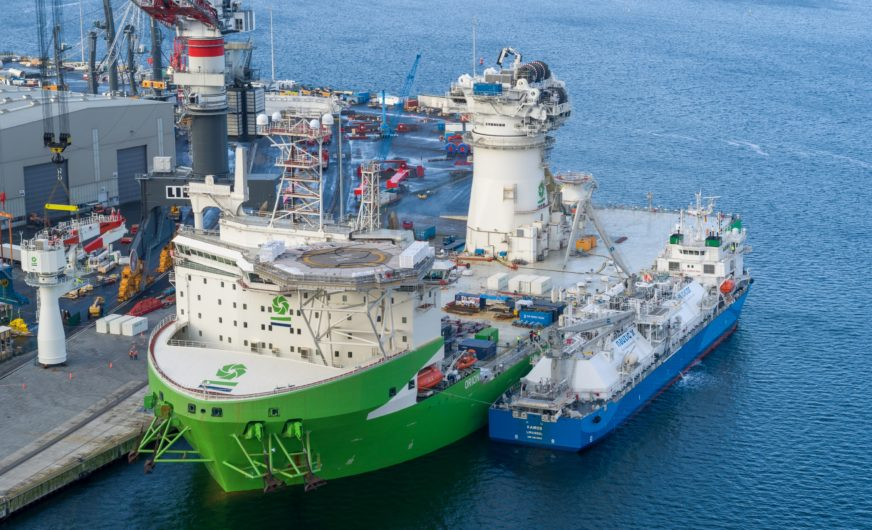 First ship-to-ship LNG bunkering in Rostock