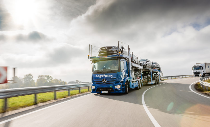 Lagermax Group uses its first Actros as open vehicle transporter