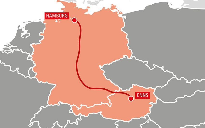 TransFER Enns-Hamburg: Neuer Intermodal-Service der Rail Cargo Group