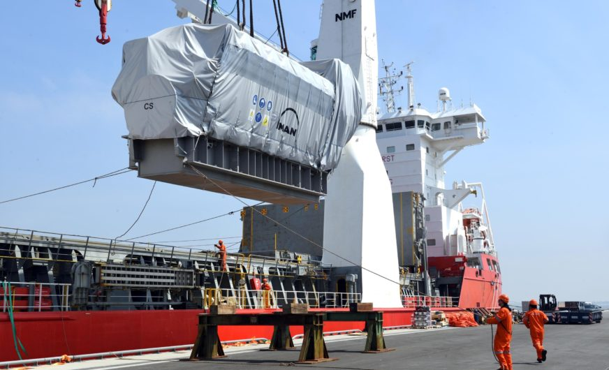 Rhenus Project Logistic ships 13 giant MAN diesel engines