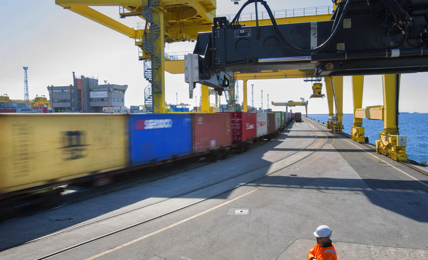 Molo VII in Trieste: Strong growth in rail transport