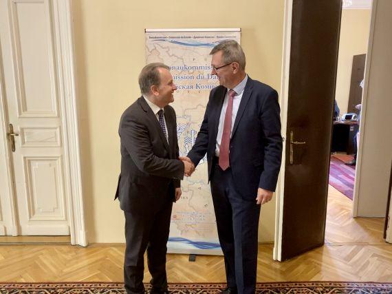 EFIP-Präsident Fritz Lehr zu Besuch bei der Donaukommission
