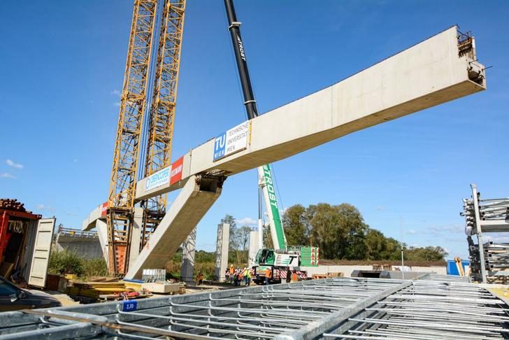 Weltpremiere in Österreich für neue Brückenbautechnik der TU Wien