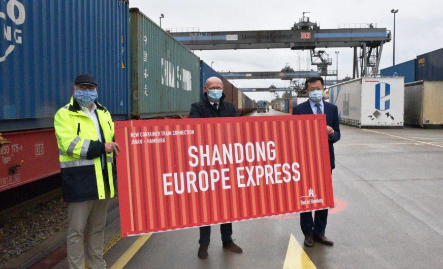 """""""Shandong-Europa Express"""" ist neues Zugprodukt nach Hamburg"""