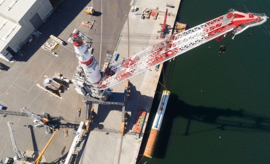 Liebherr: Startschuss für externe Projektverladungen im Hafen Rostock