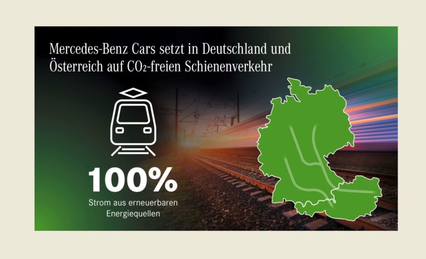 CO₂-freie Bahnlogistik für Mercedes-Benz Cars in Deutschland und Österreich
