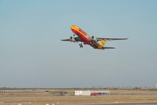 DHL fliegt umweltschonend über den Atlantik