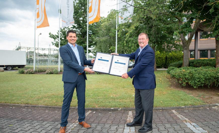 trans-o-flex für beste Qualität und Service in Europa ausgezeichnet