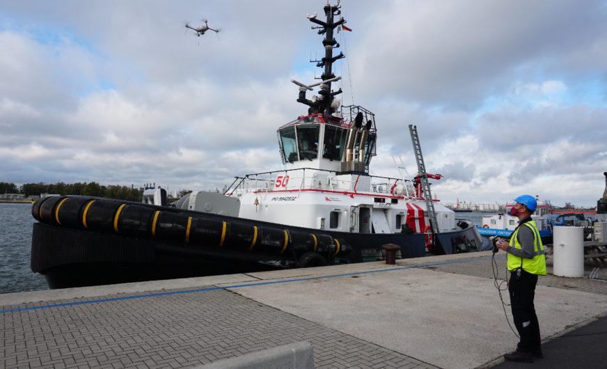 Drohneneinsatz für mehr Sicherheit im Hafen Antwerpen