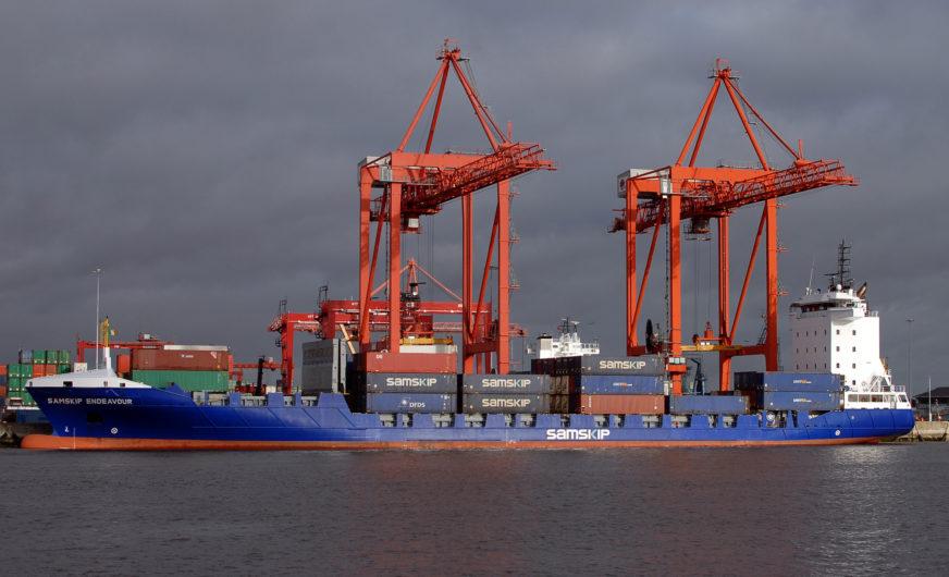 Samskip:  Containerdienst Amsterdam – Irland