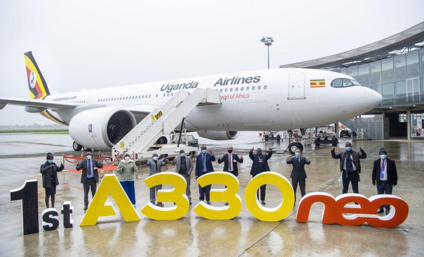 Erster A330neo-Jet in den Farben von Uganda Airlines
