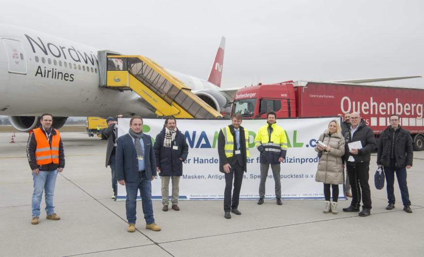 Quehenberger: FFP 2-Masken per Luftfracht nach Österreich