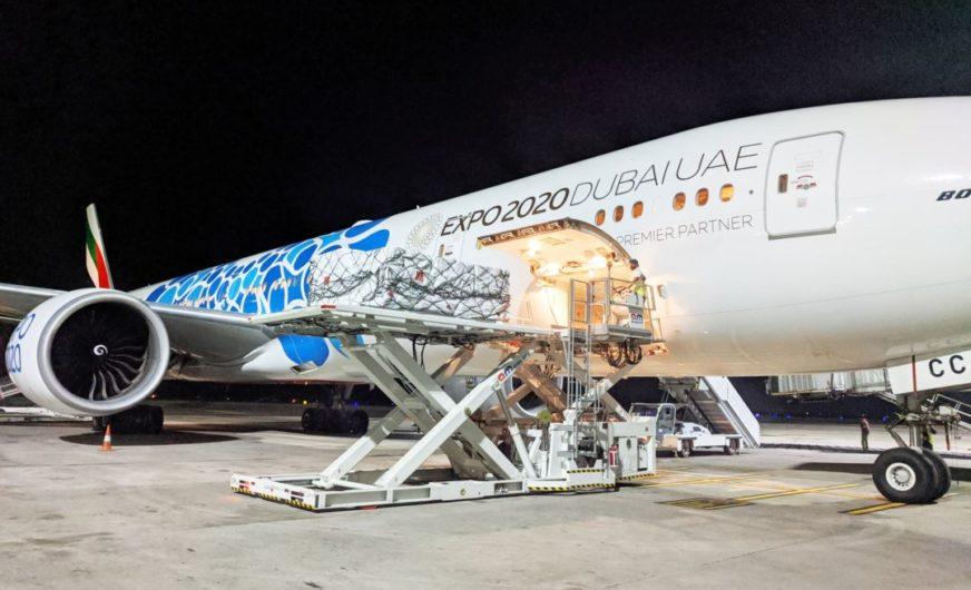 Jahr der Fracht für die Emirates-Passagierflugzeuge