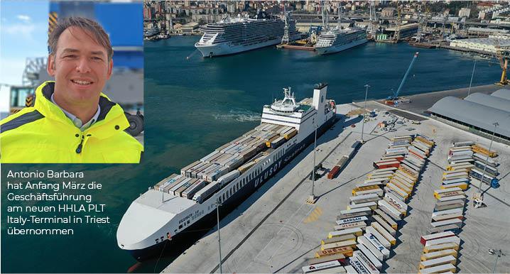 Triest: Erster Schiffsanlauf bei HHLA PLT Italy