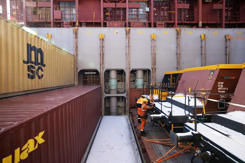 MSC: Elf Waggons von Antwerpen nach Montevideo
