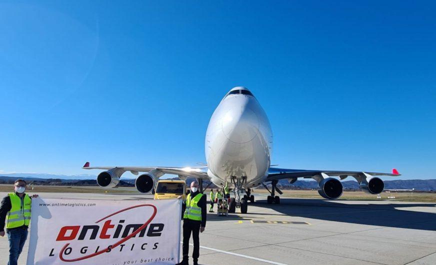Ontime Logistics für über 1.000 Tonnen Luftfracht