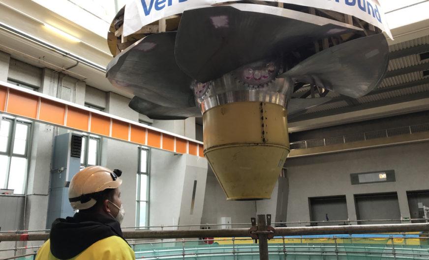 Millimetergenaue Logistik für eine 100 Tonnen-Turbine