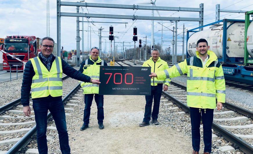 Erweitertes Bahn-Terminal 1 bei WienCont im Hafen Wien