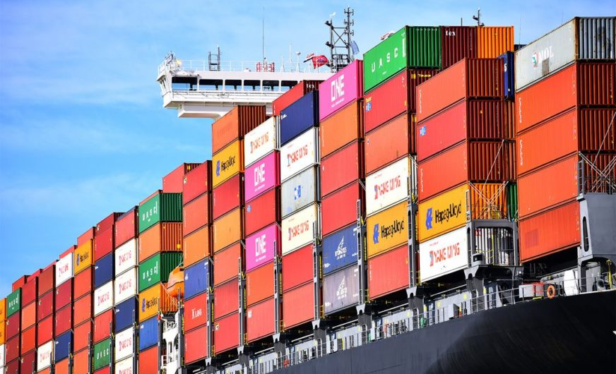 Plus 4,5 Prozent Container im Hafen Rotterdam