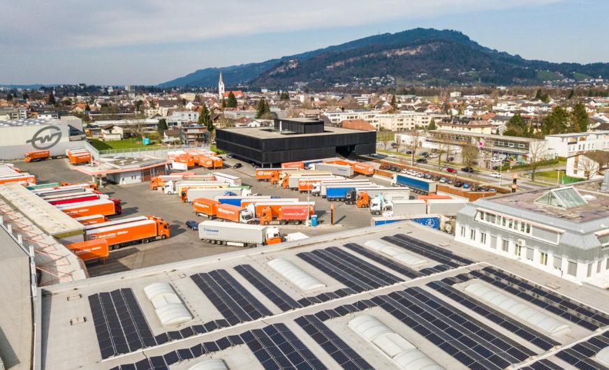 Neue Photovoltaikanlagen bei Gebrüder Weiss