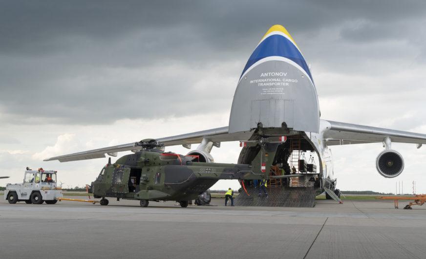 Outsized Cargo aus Afghanistan am Flughafen Leipzig/Halle