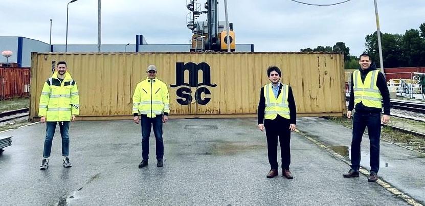 WienCont: Erste Barge mit MSC-Leercontainern