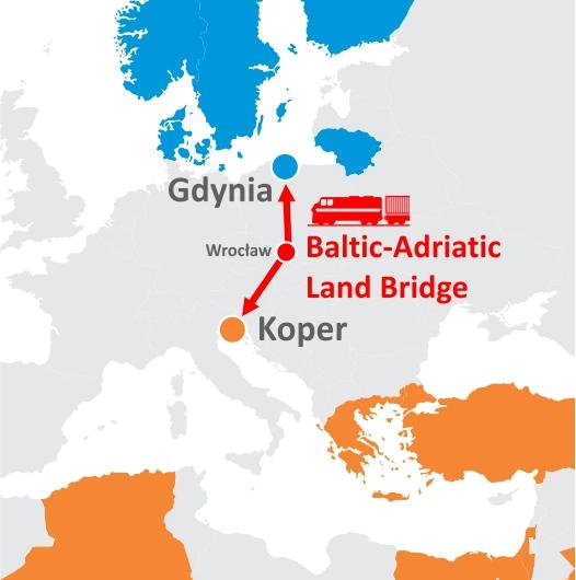 Neue Baltisch-Adriatische Verbindung nach Koper