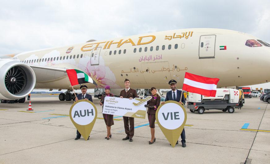 Etihad Airways mit neuer Direktverbindung nach Österreich
