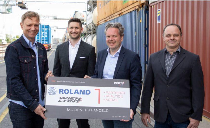 WienCont: Roland passiert die Marke von einer Million TEU